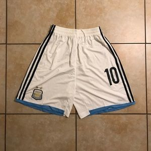 Adidas AFA 2018 WORLD CUP Messi Home Jersey Shorts